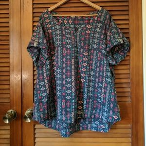 Aztec pattern blouse